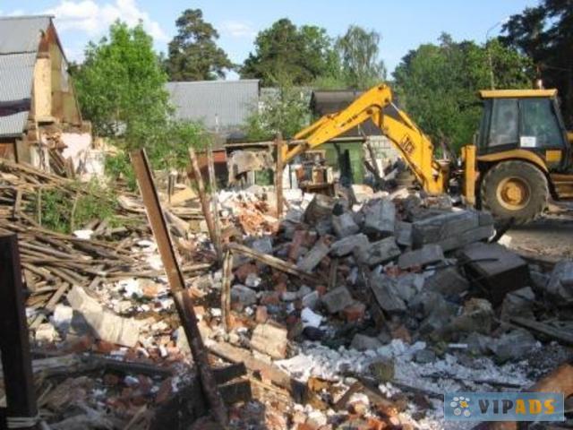 Снос сооружений и вывоз мусора